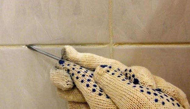 механическая очистка плиточных швов