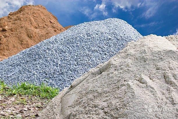 Строительные нерудные материалы: песок, щебень и их применение